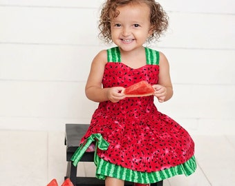 Boutique Style Watermelon Peekaboo Dress