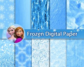 "50% OFF Frozen Digital papers ""Frozen Patterns"" Palette inspired by Disney's Frozen movie * Instant Download"