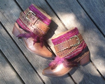 Size 9 Women's Hipster Boho Cowboy Boots