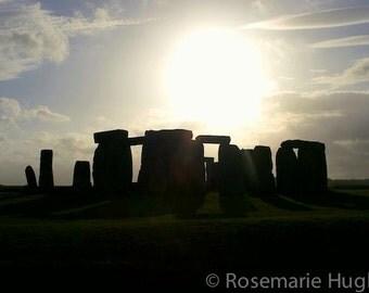 Stonehenge Silhouette - Original Fine Art Photograph - England