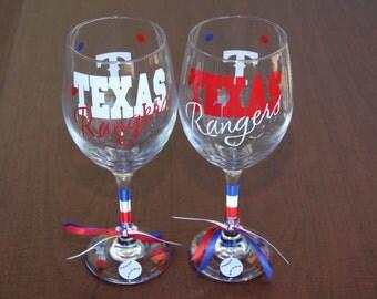 Texas Rangers Glassware