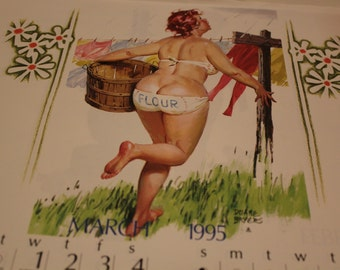 Pin Up Hilda Calendar March April 1995 Duane Breyers Abetta Broiler Welding