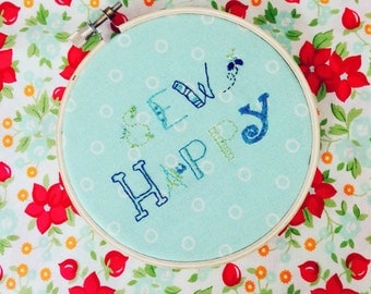Sew Happy Embroidery Pattern