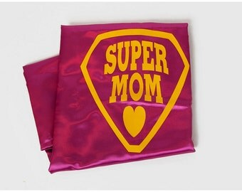 SUPER MOM CAPE - Super Hero Cape for Moms - Adult Super Hero Cape for Mom - Super Mother Capes - Quick Shipping Adult Cape - Superhero Mom
