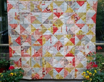 Modern Quilt Kit - Citrus Punch Throw Size