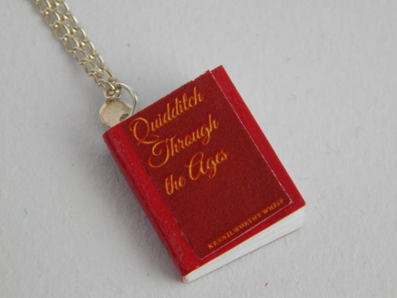 Quidditch Through the Ages Harry Potter Inspired Book Necklace