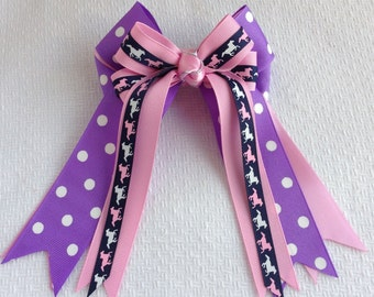 Pony Girl Hair Bows, Equestran clothing, beautiful gift