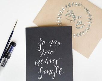 Custom Handwritten Card
