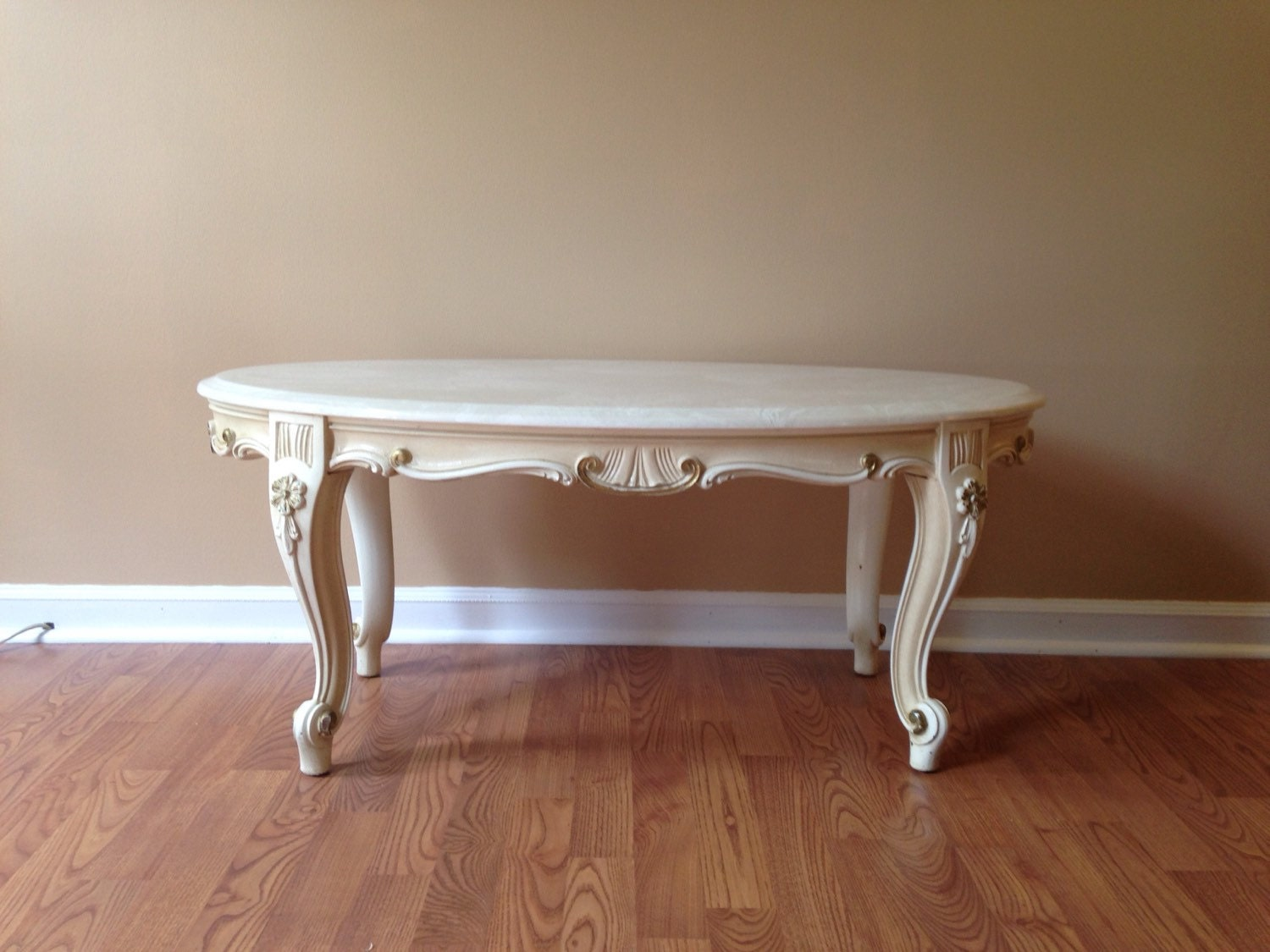 Shabby Chic French Provincial Marble Top Coffee Table Haute Juice