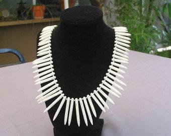 Gorgeous Vintage  Bone Bead Necklace