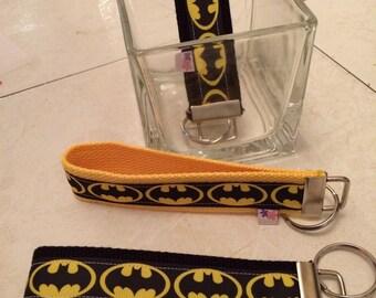 Batman wristlet keychain key fob