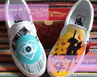 ATL - All Time Low Album Art Hand Painted Custom Vans Converse