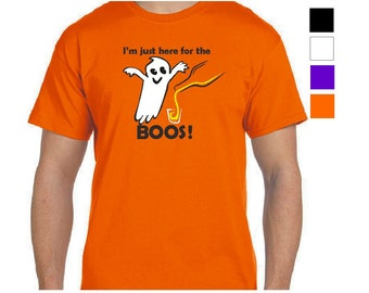 Halloween T-Shirts, I'm Just Here For The Boos! Ghost Halloween Shirt