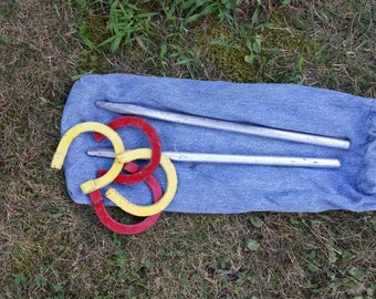 Mini horseshoe game, lawn games, gift, outdoors, him, her, camping