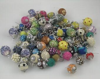 bling bead earrings