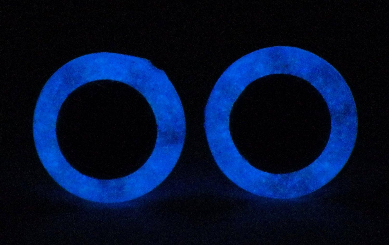 9mm Glow In The Dark Eyes Metallic Blue Safety Eyes With Blue