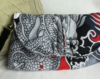 wristlet purse clutch dragon