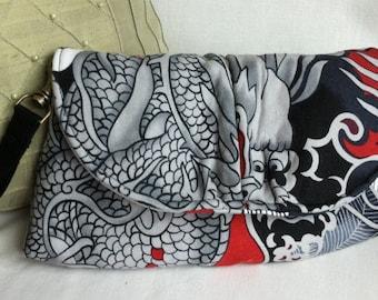 wristlet purse clutch dragon