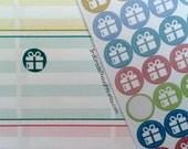 Birthday, Present, Gift {Teacher Lesson Planner Stickers #128}