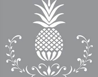 "12"" x 12"", Americana Decor-Stencils-Posh Pineapple, Reusable Stencil"