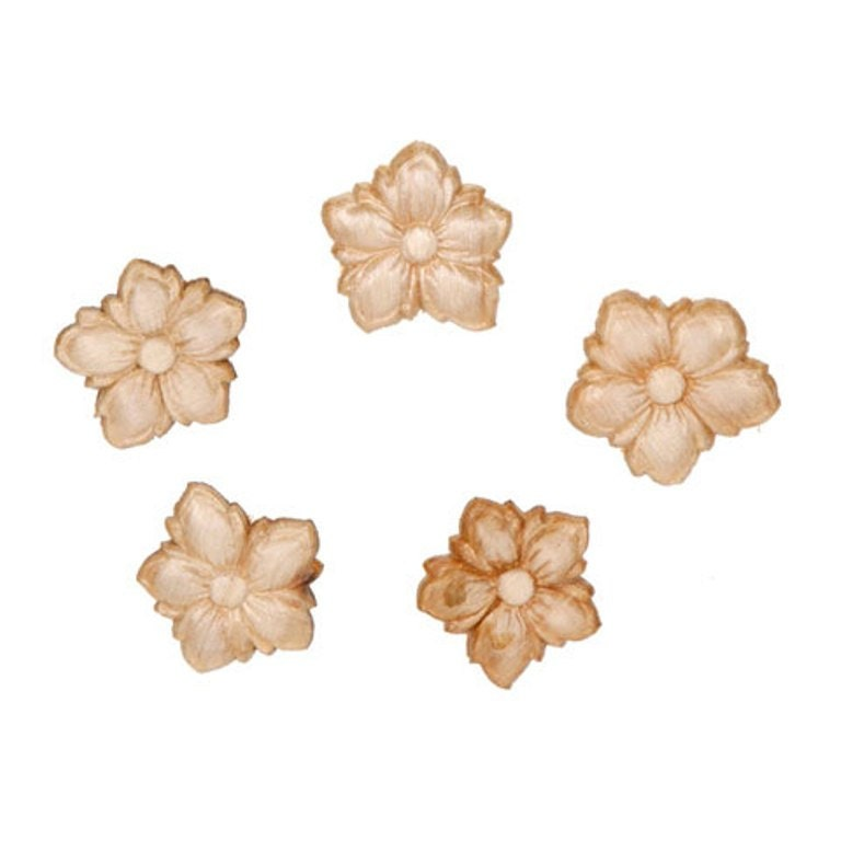 Small wood flower wood appliques decorative wood wood for Decorative wood onlays