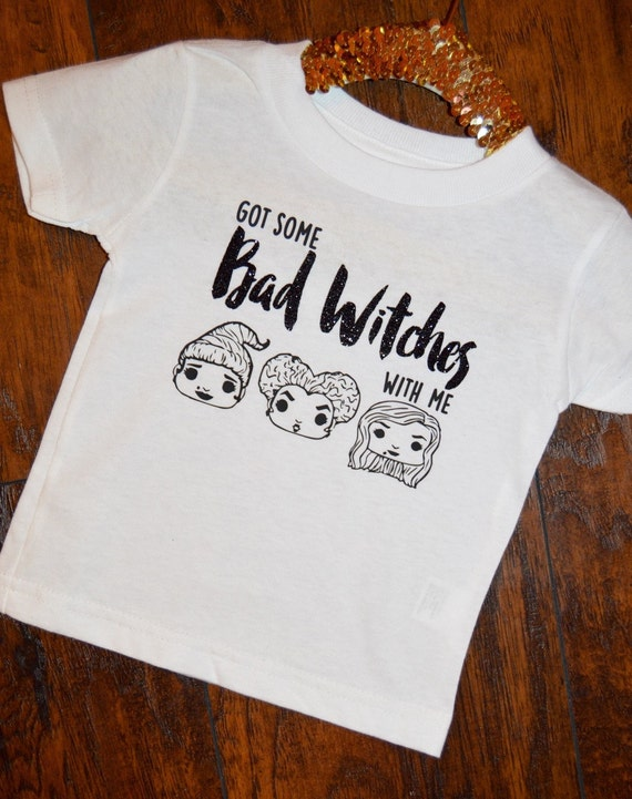 Bad Witches Hocus Pocus Baby Toddler Shirt Glitter HTV