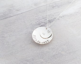 Domed Sterling Silver Necklace