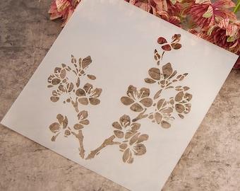 Flower Stencil Etsy
