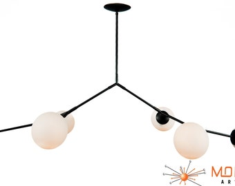 Modern Branching Bubble Chandelier
