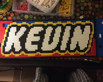 Custom Name LEGO Mosaic (Your name in LEGO font)