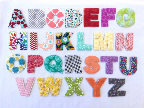 Handmade Plush Alphabet Magnets - Customizable! - Toy Letters - Numbers