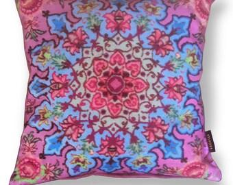 Pink velvet cushion cover CUPCAKE