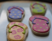 Flip Flop Cookies - Luau - One Dozen