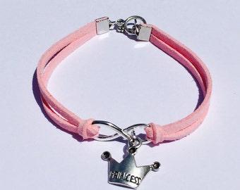 Infinity Princess Bracelet, Little Girls Charm Bracelet, Little Girls Jewelry, Princess Bracelet, Infinity Bracelet, Flower Girl Jewelry