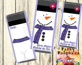 Printable Snowman Candy Bar Wrapper