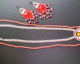 Vintage indian beaded jewelry lot