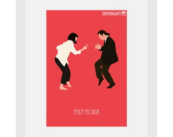 pulp fiction postcard 4'X6'