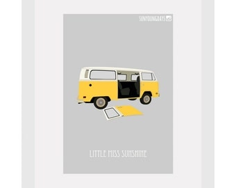 little miss sunshine movie poster postcard 4'X6'