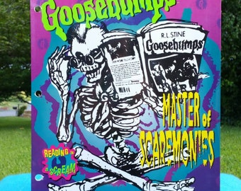 90s Goosebumps Folder 3 Ring School Supplies