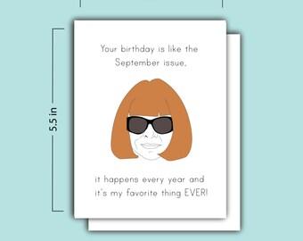 Anna Wintour Birthday Card