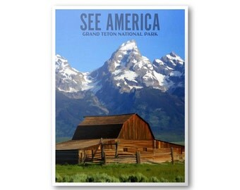 Grand Teton National Park - See America Poster & Postcard