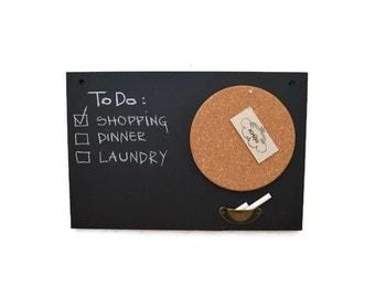 Chalkboard, memo cork board, blackboard