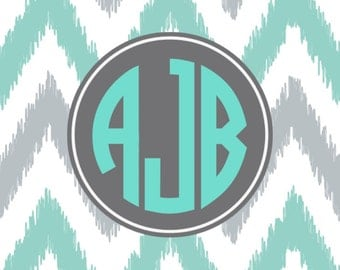Chevron Monogram Cell Phone Case