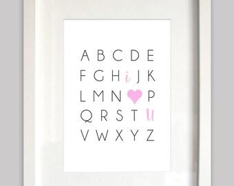 Instant Download - Nursery Alphabet Wall Print