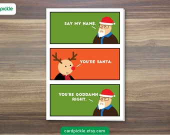 DOWNLOAD Printable Card - Christmas Card - Breaking Bad Card - Breaking Bad Christmas Card - Heisenberg