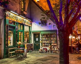 Shakespeare and Company Bookstore Paris Gifts For Readers Book Lovers Wall Art Home Decor Fine Print 8x10 vi75