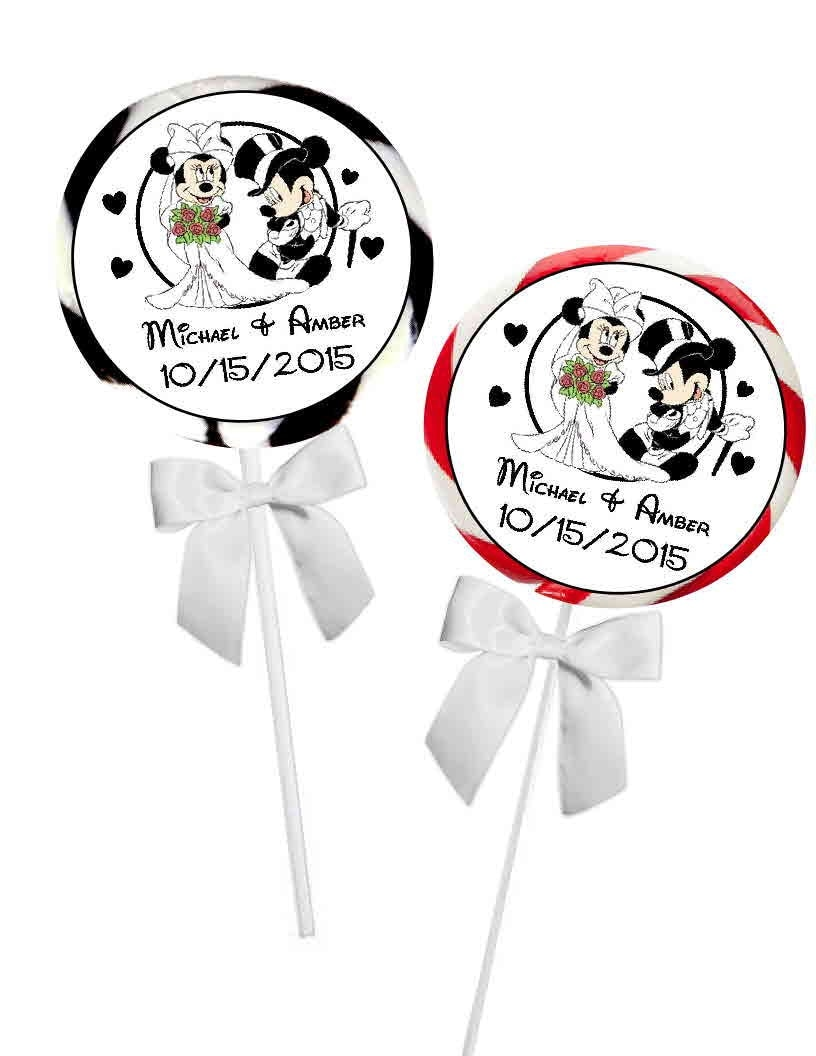 40 disney mickey and minnie wedding favors stickers labels