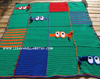 Crochet Pattern For Ninja Turtle Blanket : Minion Blanket Pattern crochet pattern