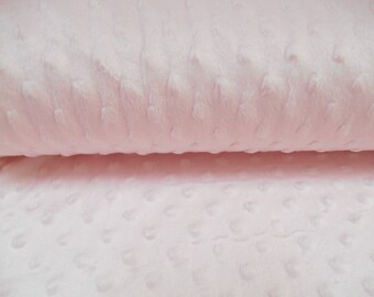 Supersoft Plush for Blankets, PINK Robes, Throws, Baby Shower Gift for Girl, Nursery Deocation, QUARTER METRE