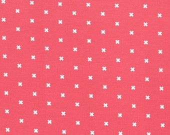 Cotton Fabric - Cotton + Steel - XOXO in Pink Cheeks from the Basics Collection